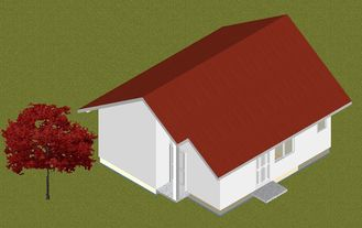 China Heller Stahlfertigbungalow steuert die mottensichere Brandverhütung, kleine hergestellte Häuser automatisch an fournisseur