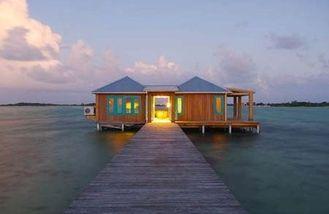 China Messgerät-Stahlrahmen Overwater-Bungalow des Licht-100sqm für Tahiti, karibisch fournisseur