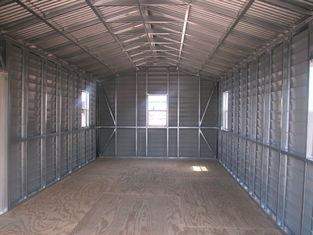 China US vorfabrizierte Giebel-Stahl-Halle, Auto-Lagerschuppen-Stahl-Gebäude fournisseur