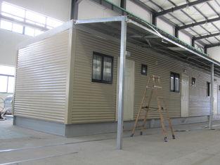 China Völlig verziertes fertiges Kojenfertighaus/Gelb-zeitgenössische modulare Häuser fournisseur