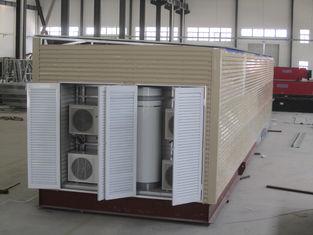 China Moderne modulare Häuser einfach und schnelle Installations-Haus-Gelb-Wohnmobile fournisseur