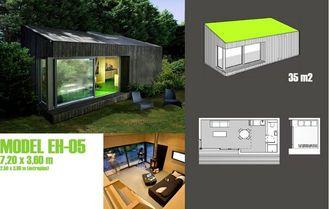 China Fertiggarten-Studio für Büro, vorfabriziertes Garten-Studio im Garten fournisseur