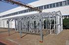 China Metallauto-Hallen-Licht-Stahlrahmen verschüttet feuchtigkeitsfesten starken Rahmen mit einer Lagerung usine