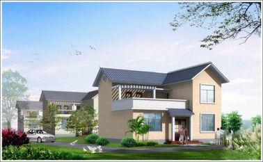 China Der 2 Geschichten-helle Stahl fabrizierte Woden-Haus, weißes Fertigstahlhaus für das Leben vor distributeur