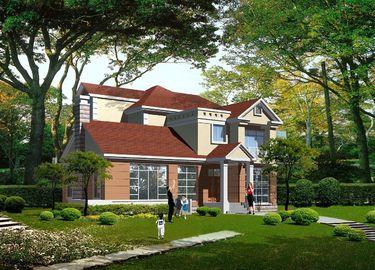 China Vorfabriziertes helles Messgerät-Stahlkonstruktions-Landhaus, Stahlfertighäuser distributeur