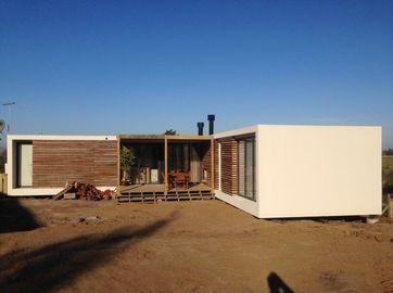 Moderne Fertighäuser der Stahlkonstruktion, Uruguay-Bungalow-Baupläne