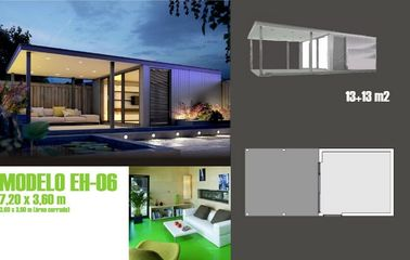 Modernes Bewegliches betont, Ferienhaus/fabrizierte Garten-Studio für Feiertags-Leben vor