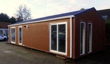 Modernes Flachdach-Fertighaus, vorgefertigte Häuser machen Wohnmobil, Belgien exportierte Wohnmobile feuerfest