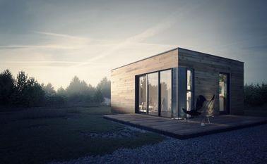 Fertighaus-Fertiggarten-Studio mit hellem Stahlrahmen-Speicher